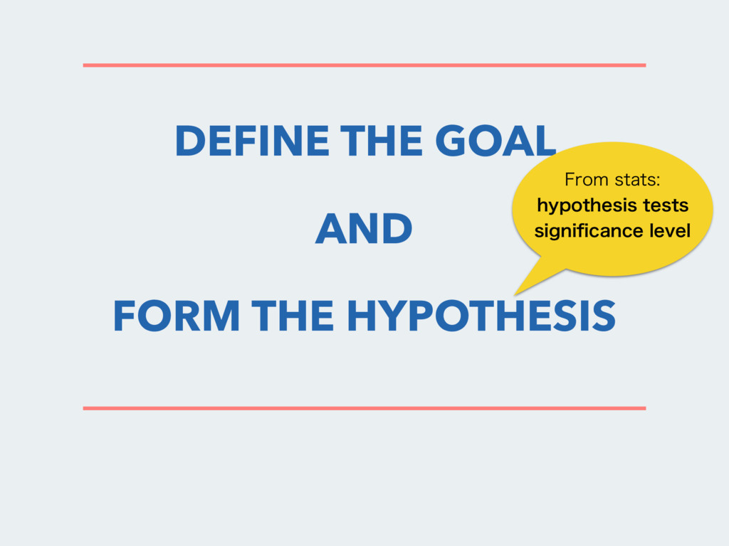 DEFINE THE GOAL AND FORM THE HYPOTHESIS 'SPNTU...