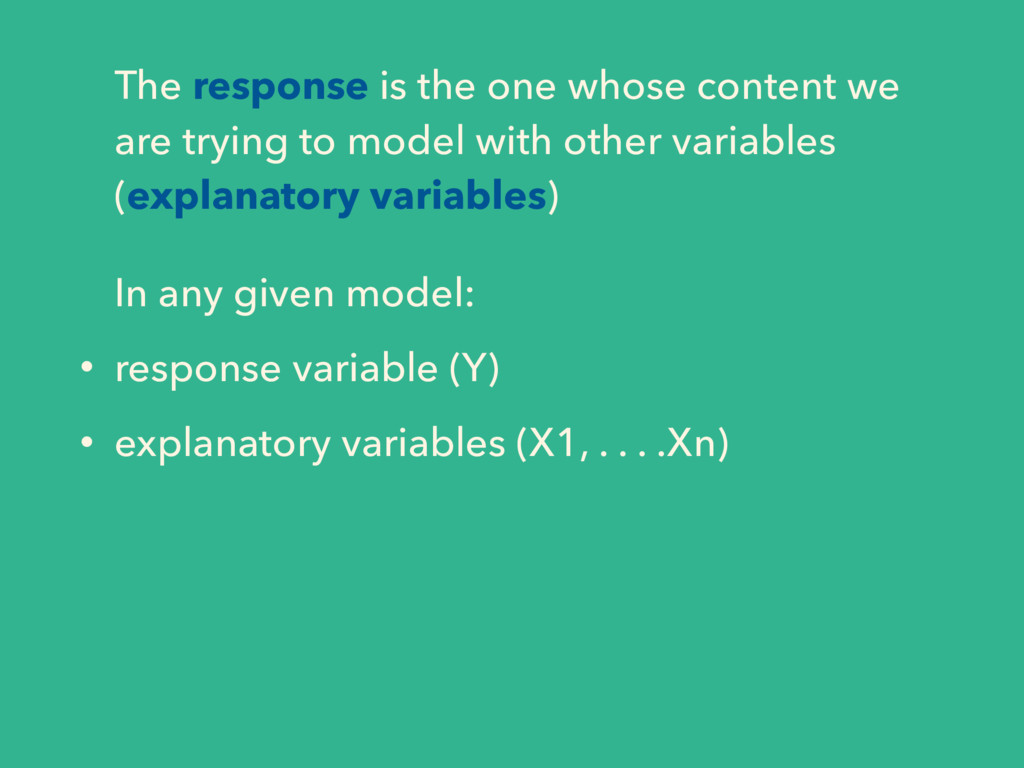 The response is the one whose content we are tr...