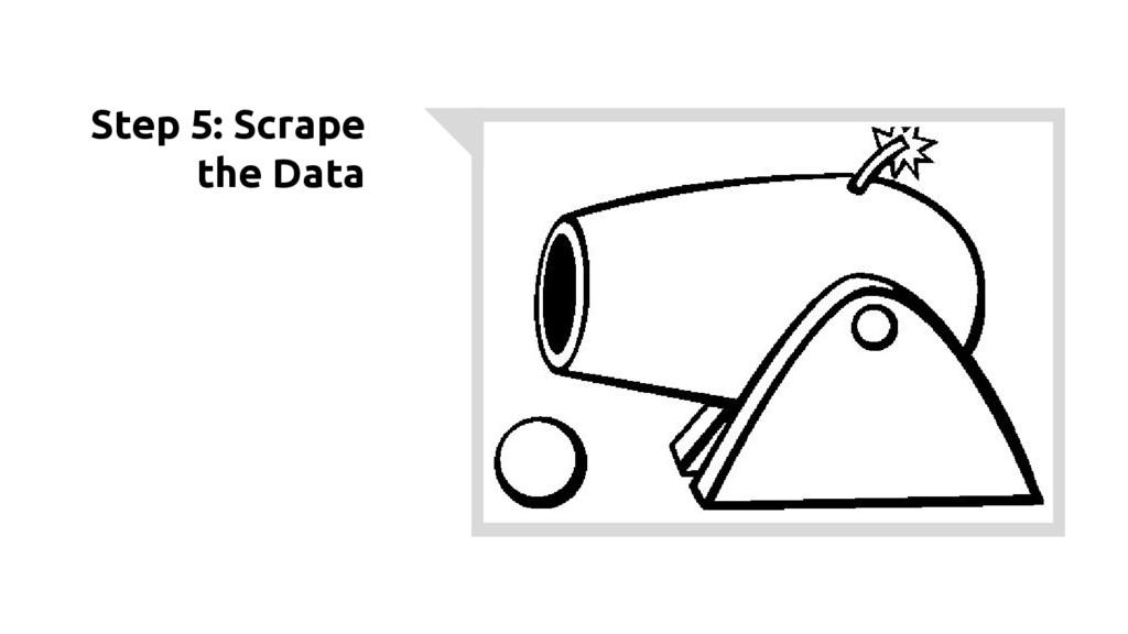 Step 5: Scrape the Data