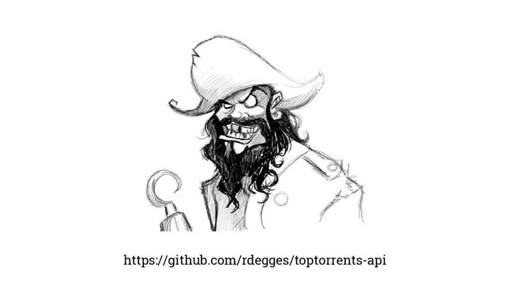 https://github.com/rdegges/toptorrents-api