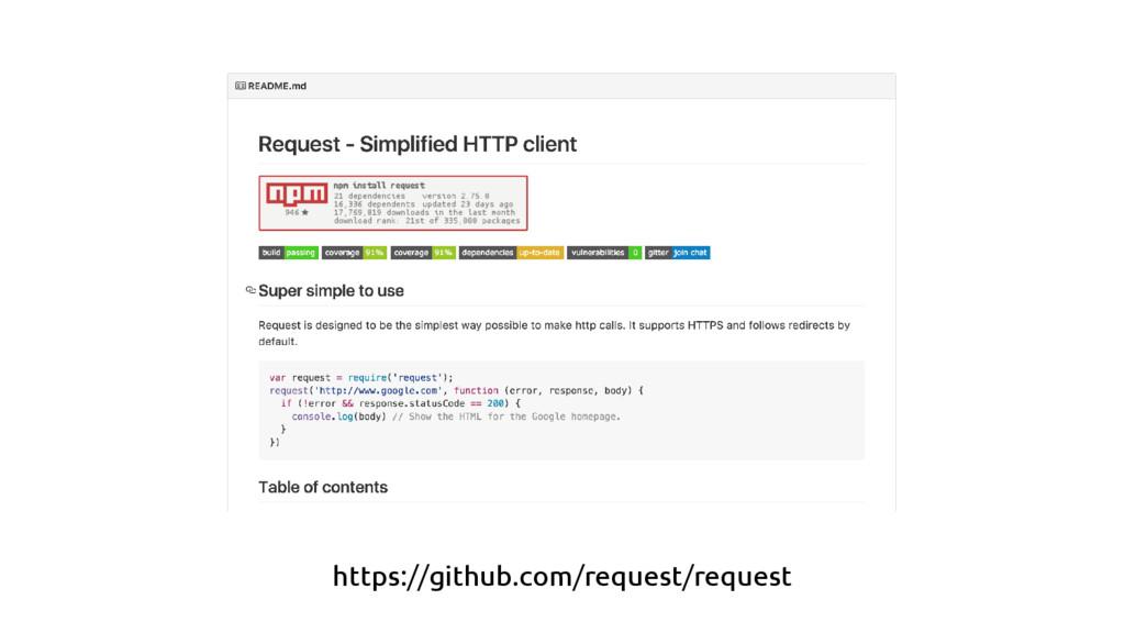 https://github.com/request/request