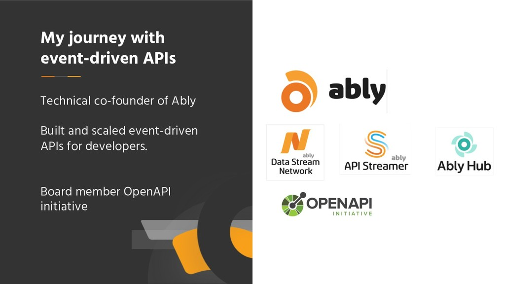 My journey with event-driven APIs Technical co-...