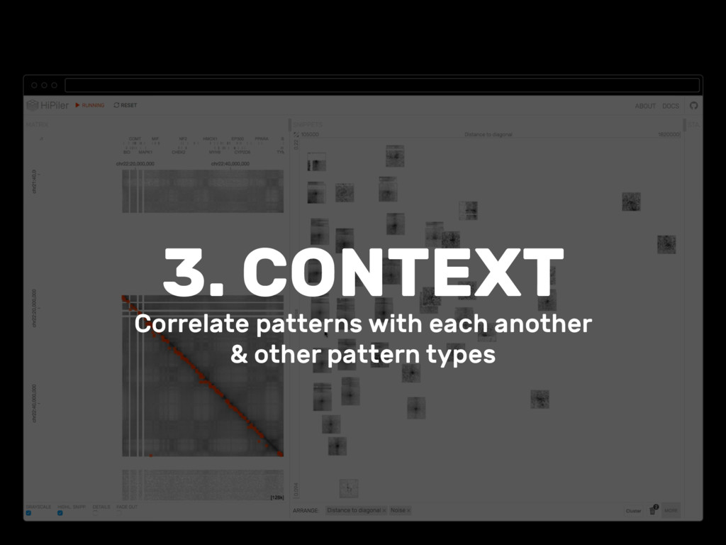 3. CONTEXT Correlate patterns with each another...