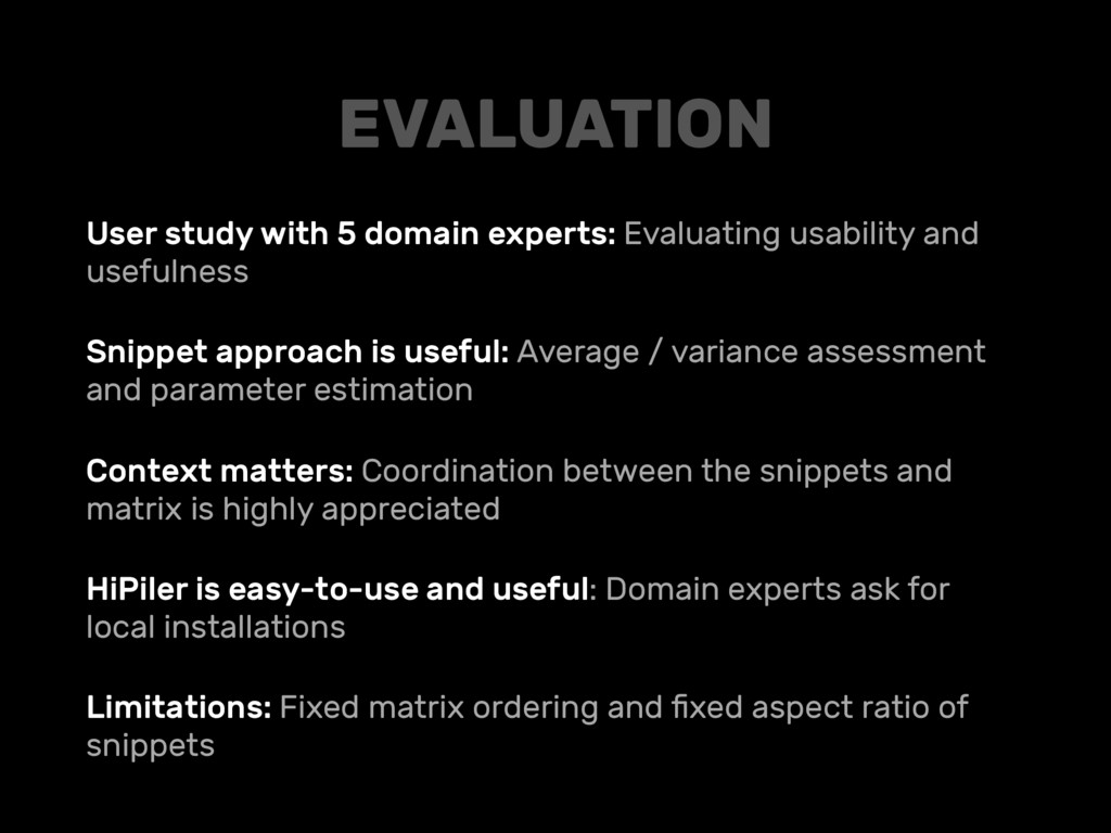 User study with 5 domain experts: Evaluating us...