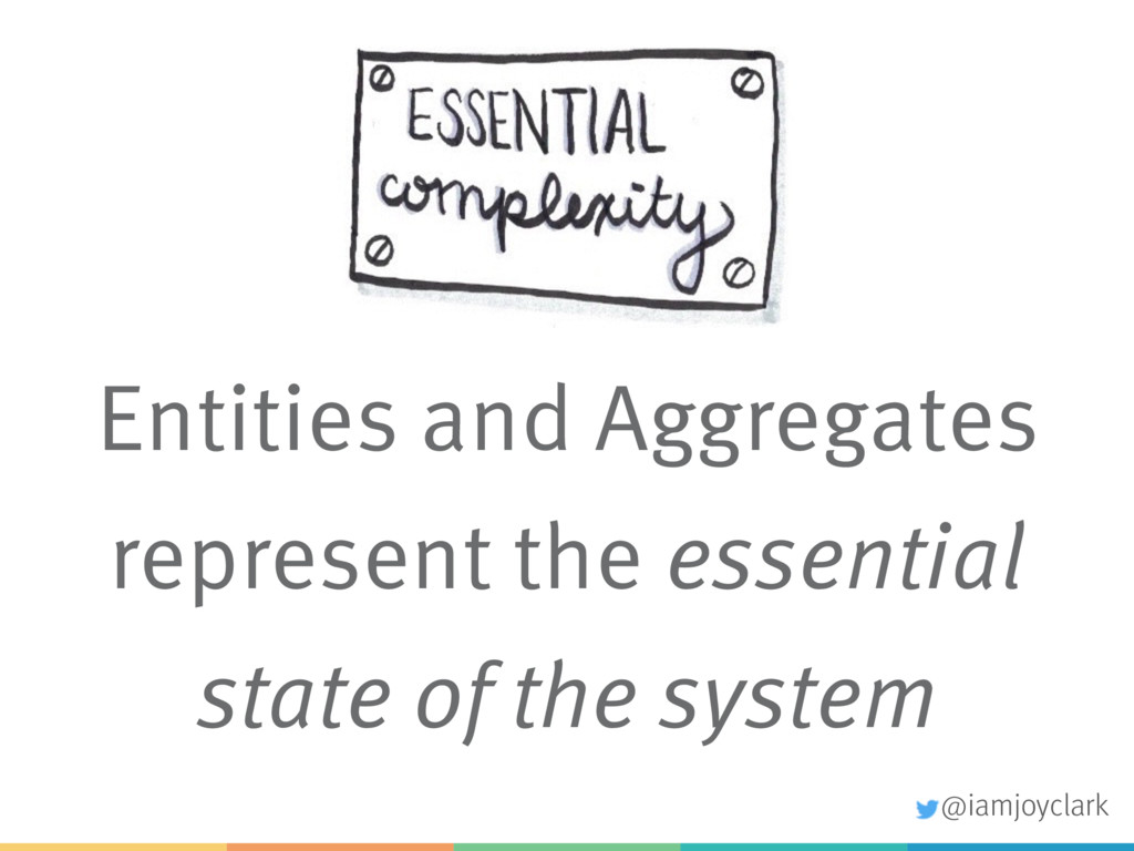 Entities and Aggregates represent the essential...