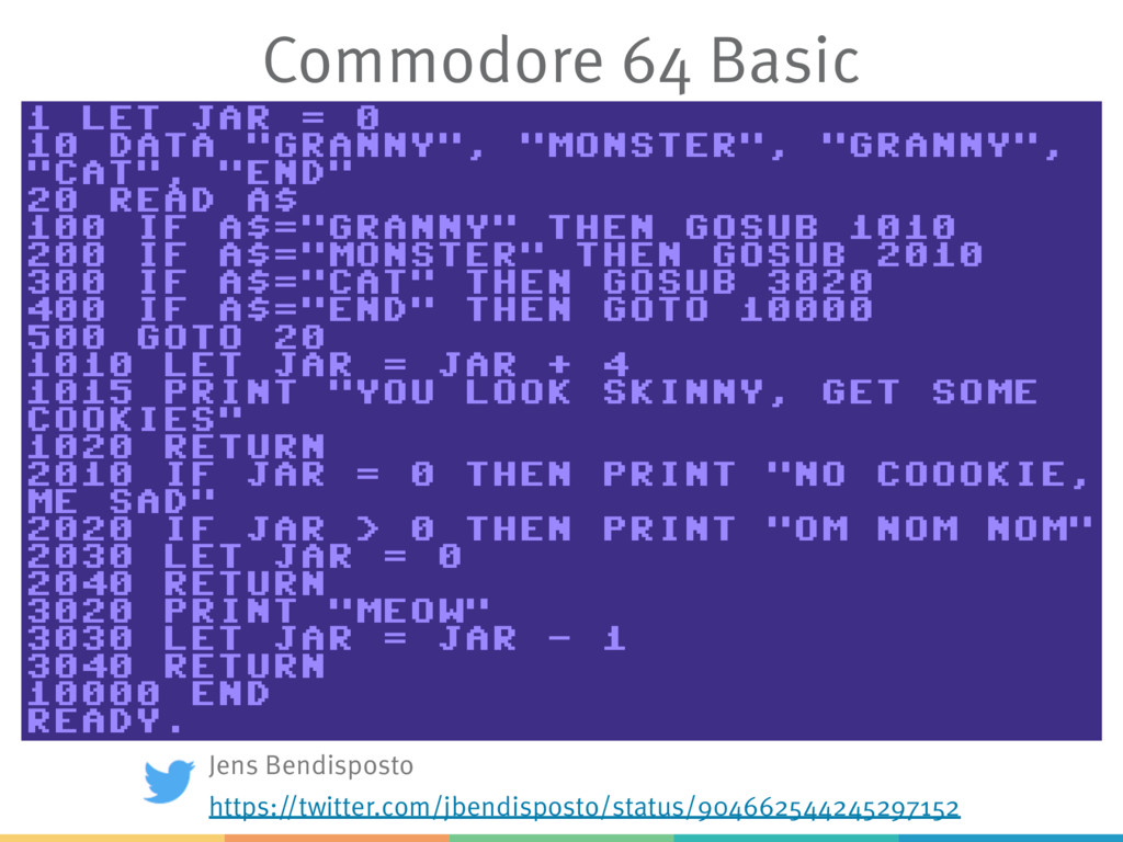 Commodore 64 Basic Jens Bendisposto https://twi...