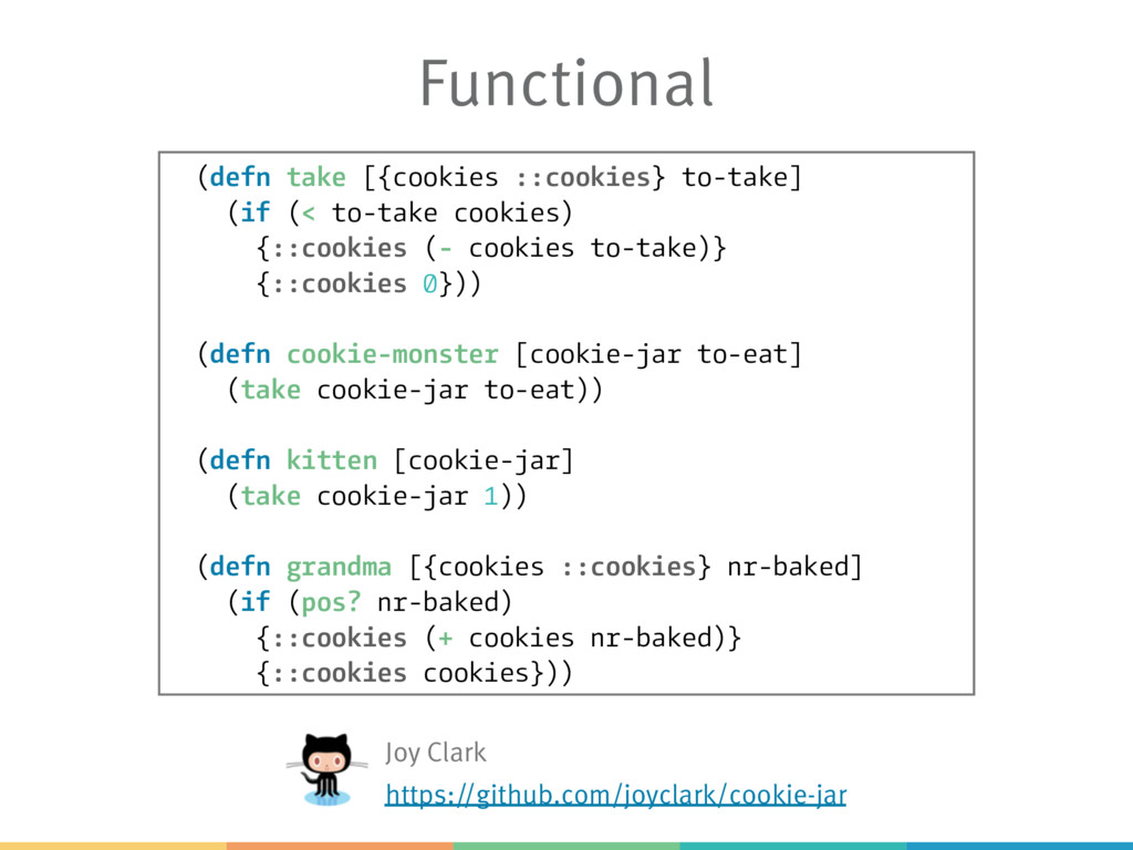 Functional (defn take [{cookies ::cookies} to-t...