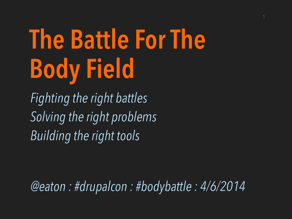 The Battle For The Body Field Fighting the righ...