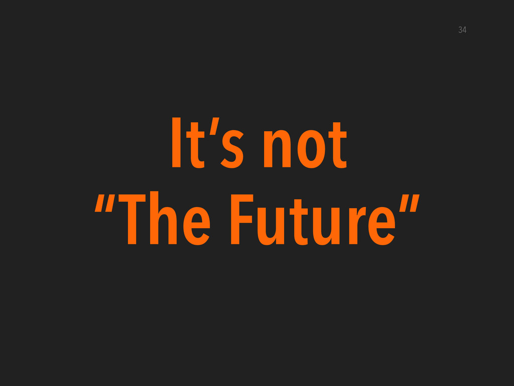 """It's not """"The Future"""" 34"""