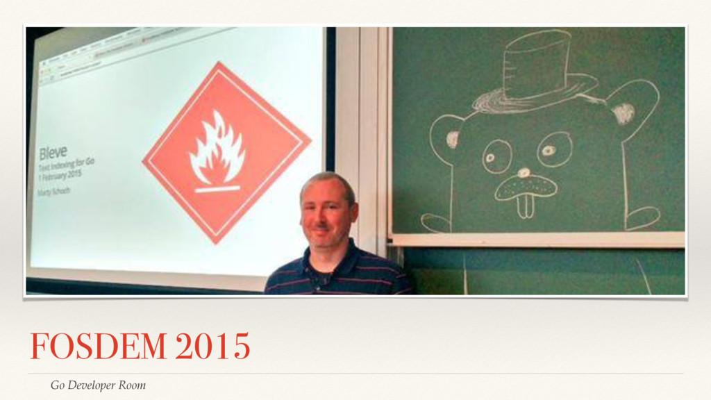 FOSDEM 2015 Go Developer Room