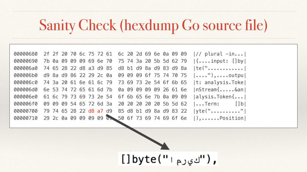 Sanity Check (hexdump Go source file) 00000680 ...