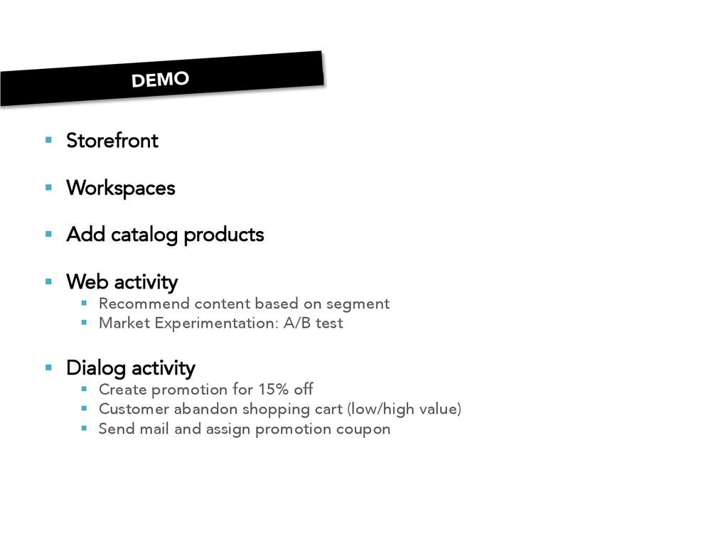 § Storefront § Workspaces § Add catalog...