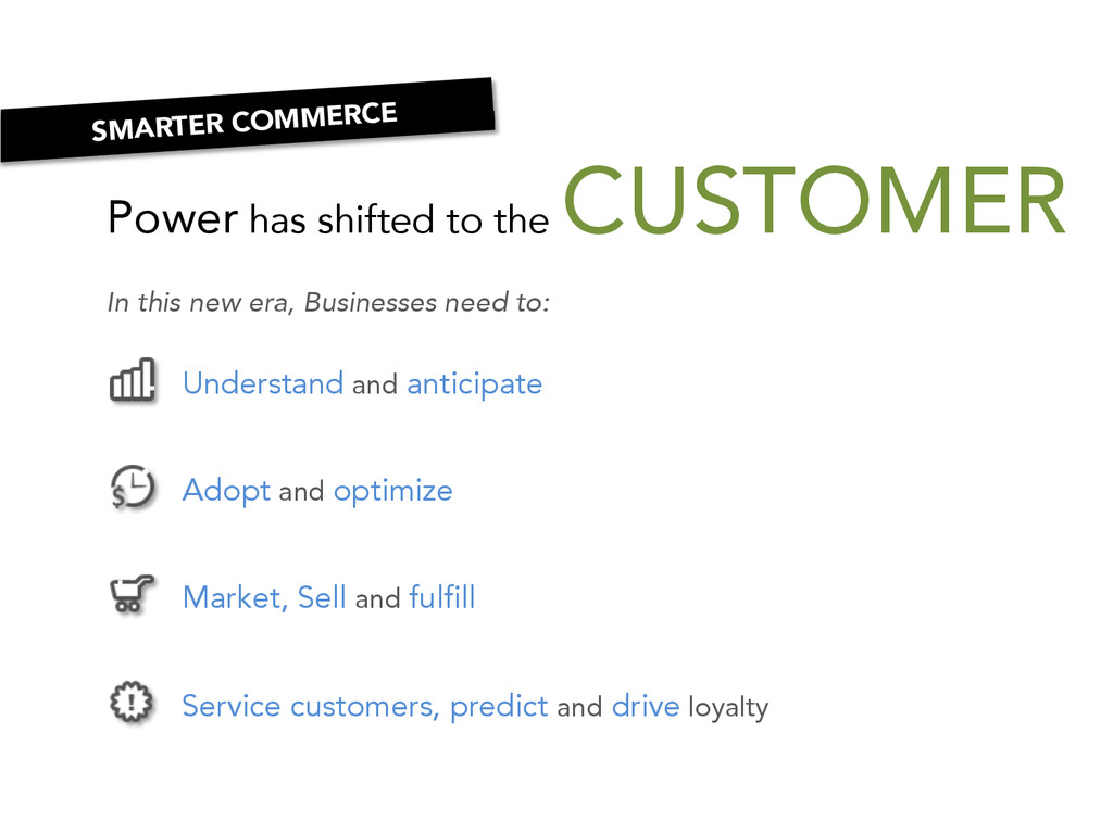 Power has shifted to the CUSTOMER In this new ...