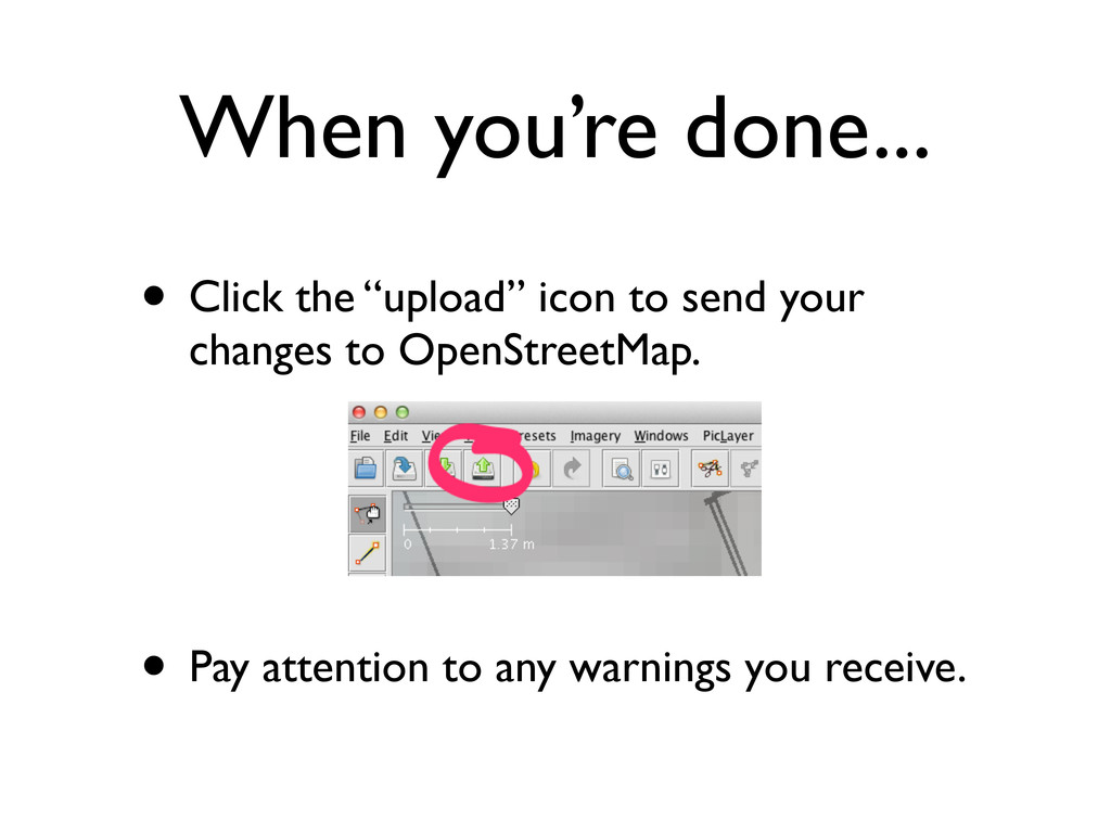 "When you're done... • Click the ""upload"" icon t..."