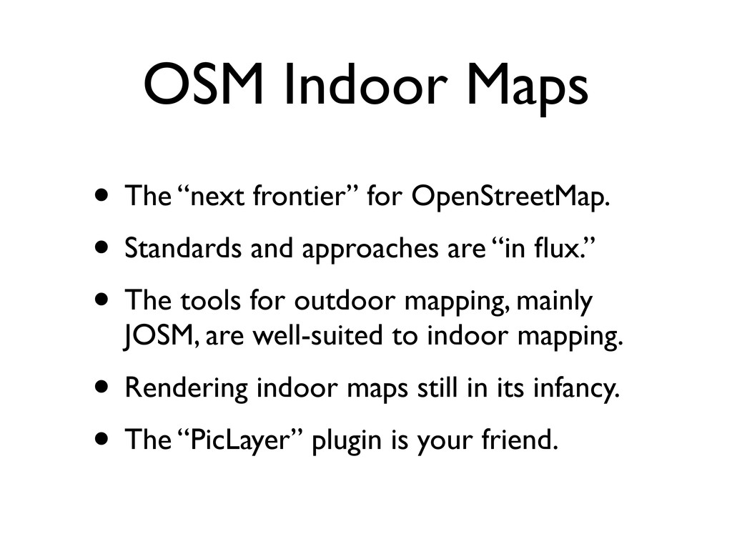 "OSM Indoor Maps • The ""next frontier"" for OpenS..."