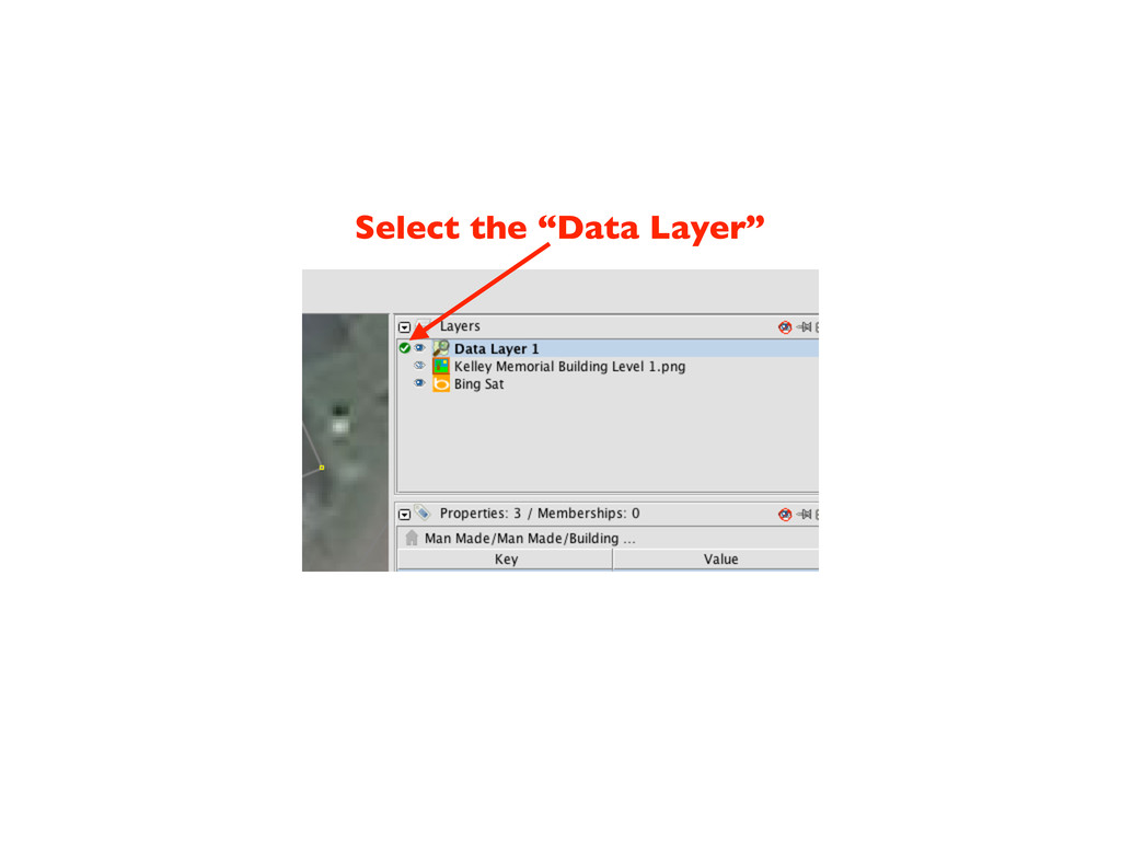 "Select the ""Data Layer"""