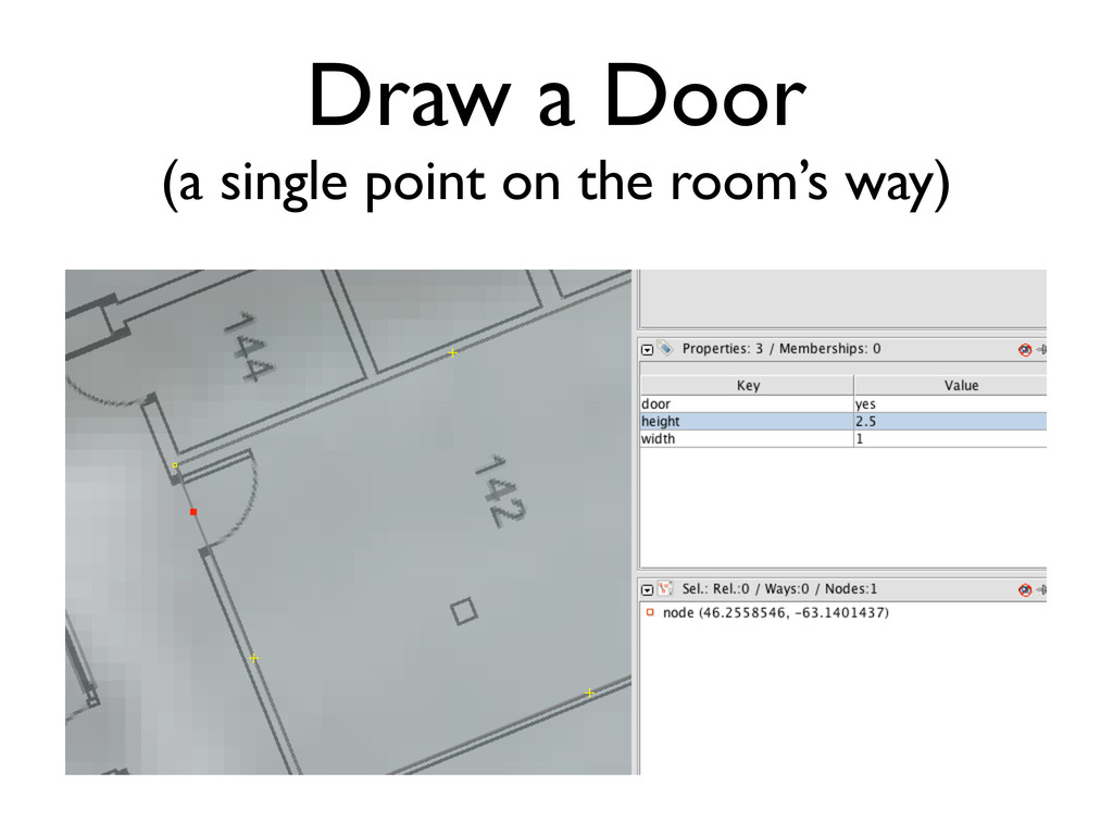 Draw a Door (a single point on the room's way)