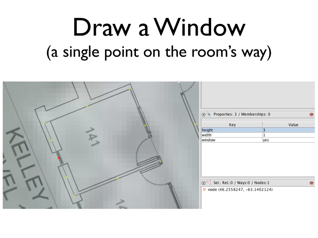 Draw a Window (a single point on the room's way)