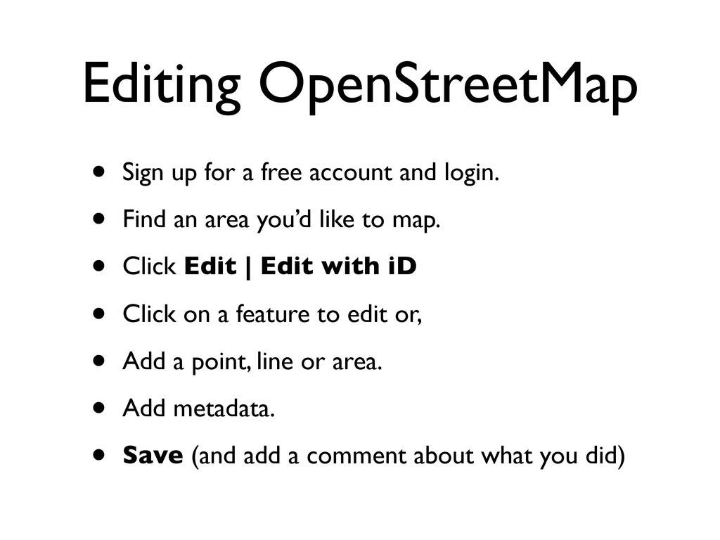 Editing OpenStreetMap • Sign up for a free acco...
