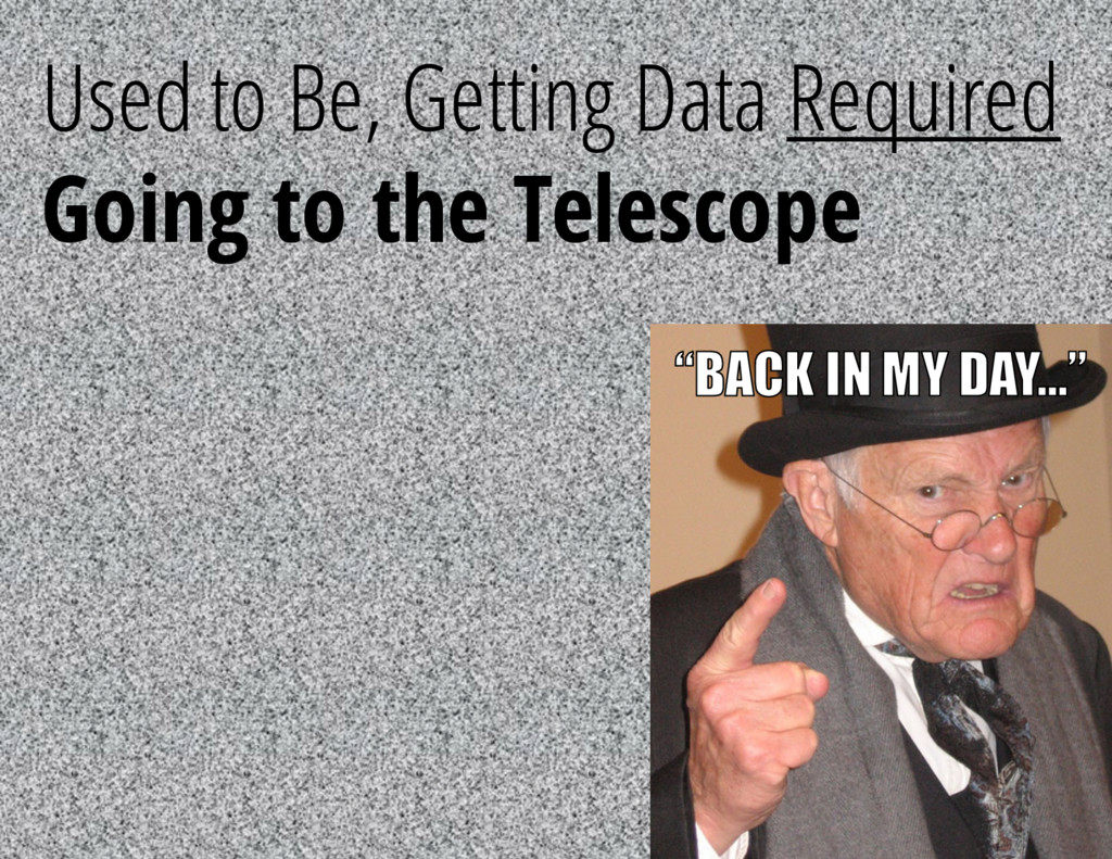 Used to Be, Getting Data Required Going to the ...
