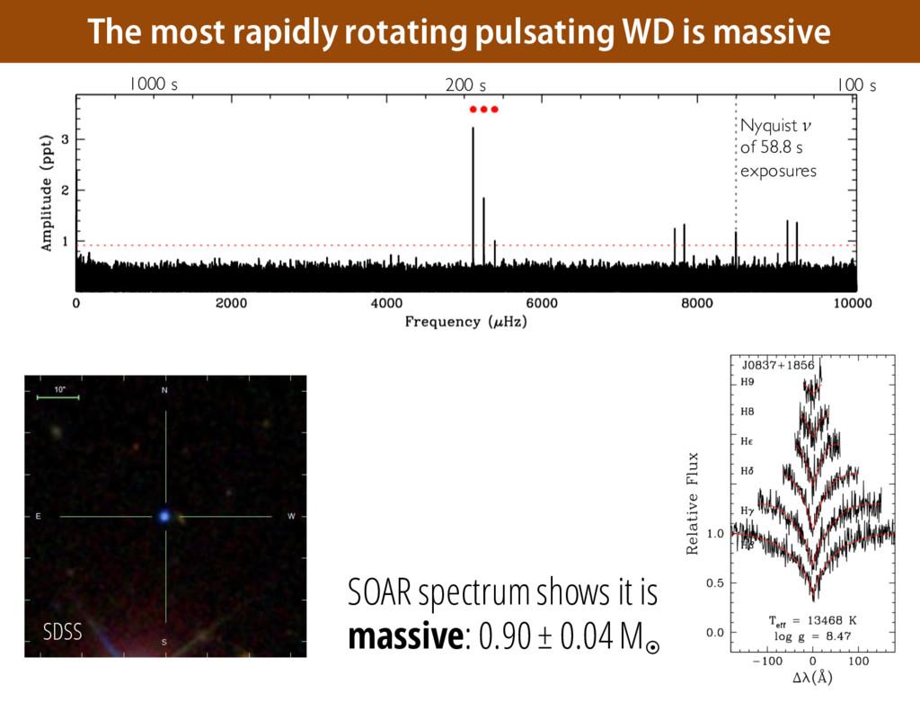 SOAR spectrum shows it is massive: 0.90 ± 0.04 ...