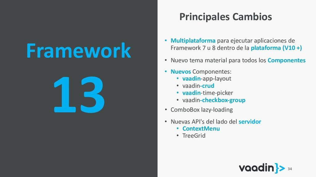 34 Framework 13 • Multiplataforma para ejecutar...