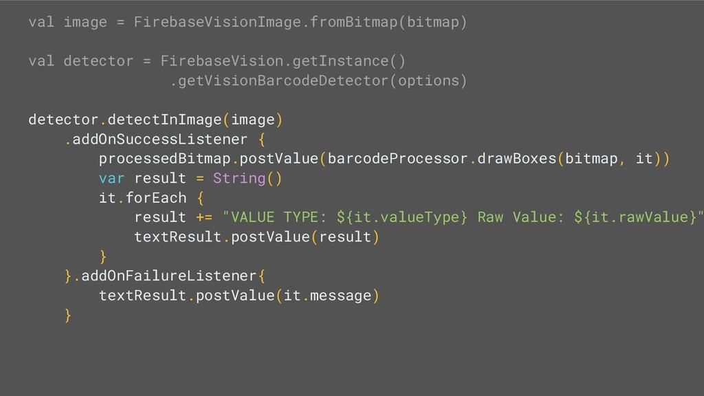 val image = FirebaseVisionImage.fromBitmap(bitm...