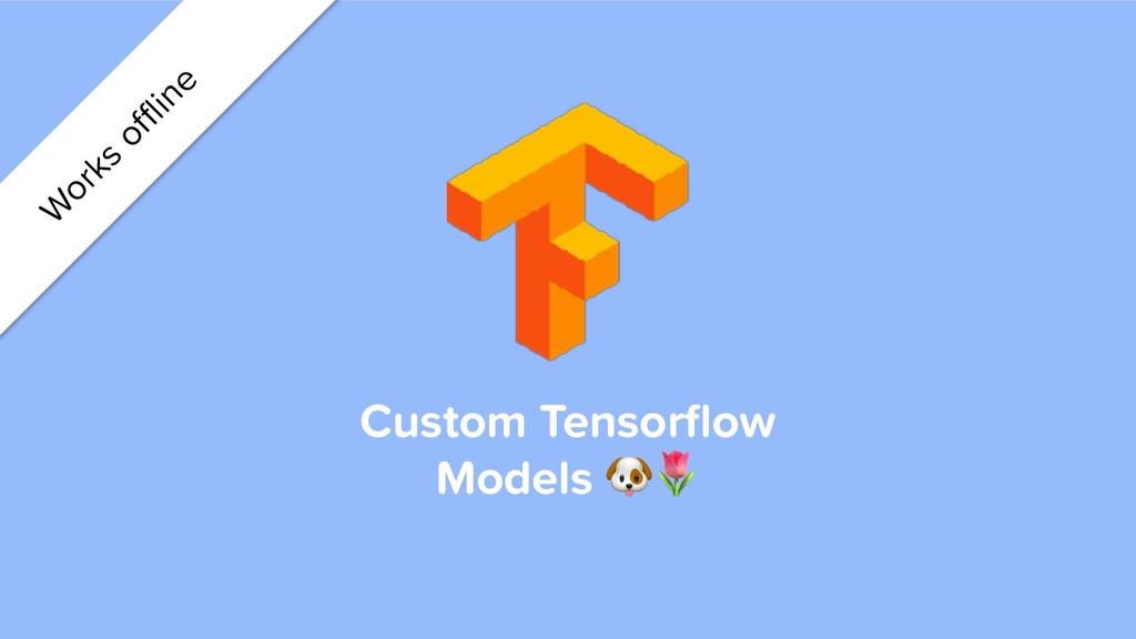 Custom Tensorflow Models  W orks offline