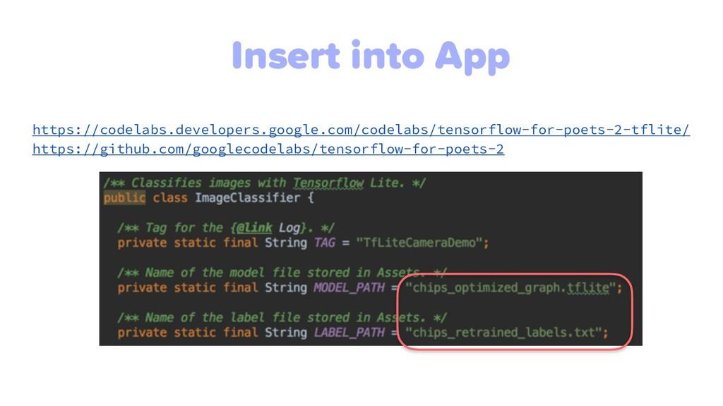 Insert into App https://codelabs.developers.goo...