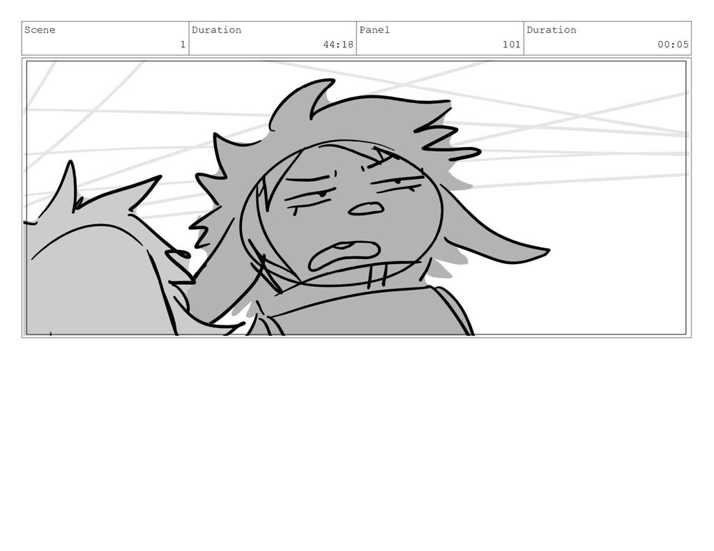 Scene 1 Duration 44:18 Panel 101 Duration 00:05