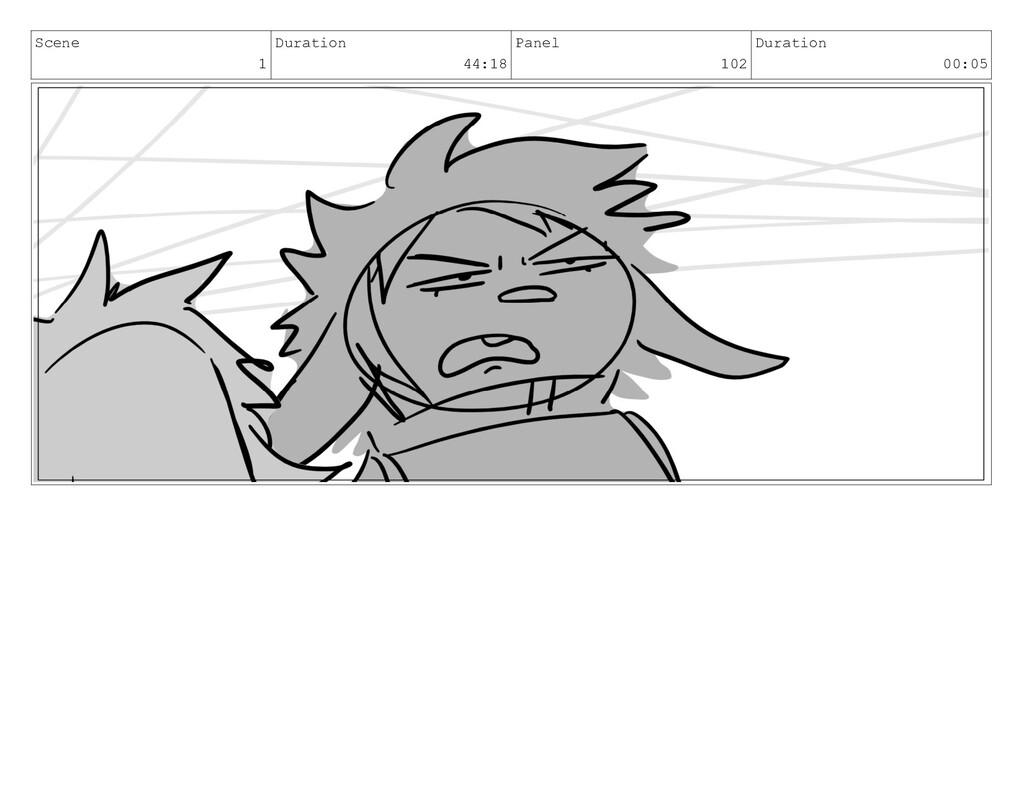 Scene 1 Duration 44:18 Panel 102 Duration 00:05