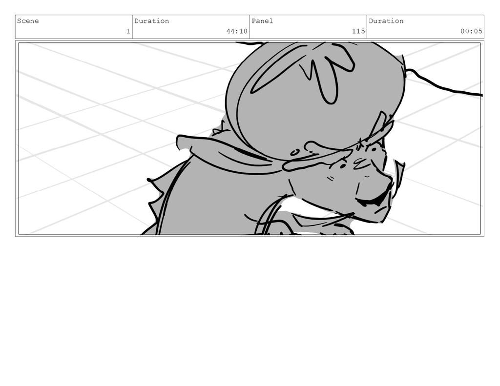 Scene 1 Duration 44:18 Panel 115 Duration 00:05