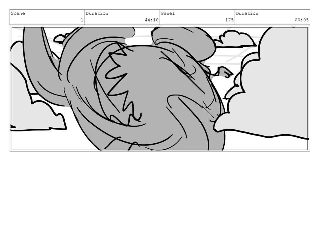 Scene 1 Duration 44:18 Panel 175 Duration 00:05
