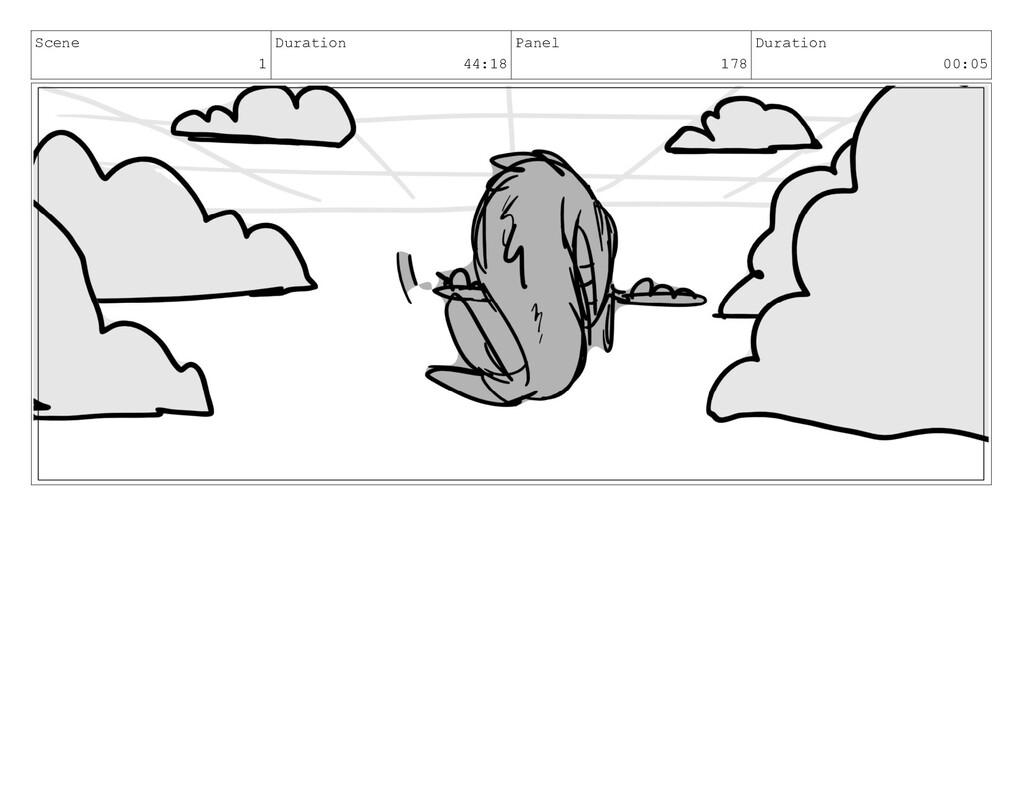 Scene 1 Duration 44:18 Panel 178 Duration 00:05