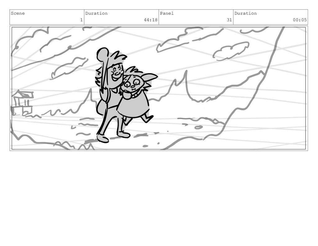 Scene 1 Duration 44:18 Panel 31 Duration 00:05