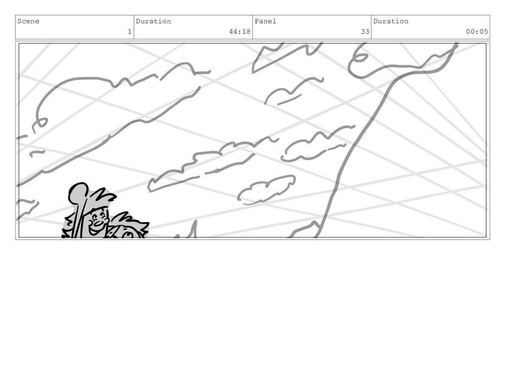 Scene 1 Duration 44:18 Panel 33 Duration 00:05