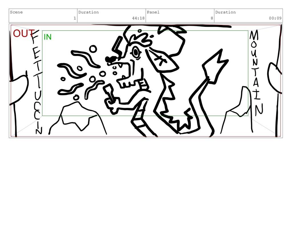 Scene 1 Duration 44:18 Panel 8 Duration 00:09