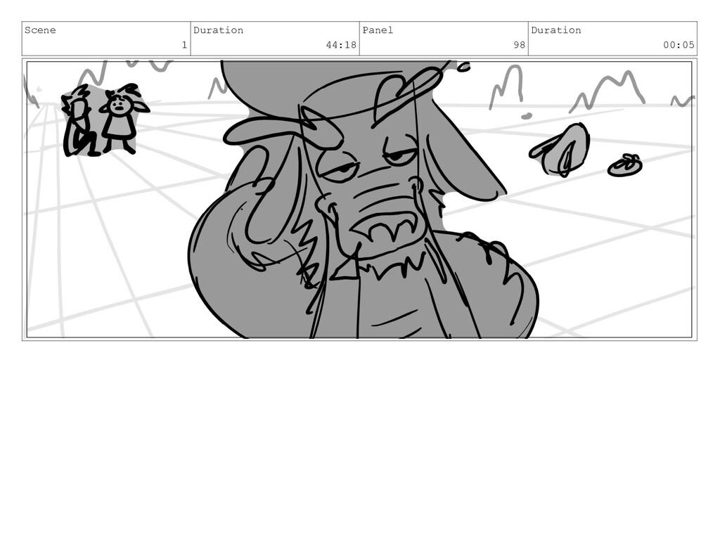 Scene 1 Duration 44:18 Panel 98 Duration 00:05
