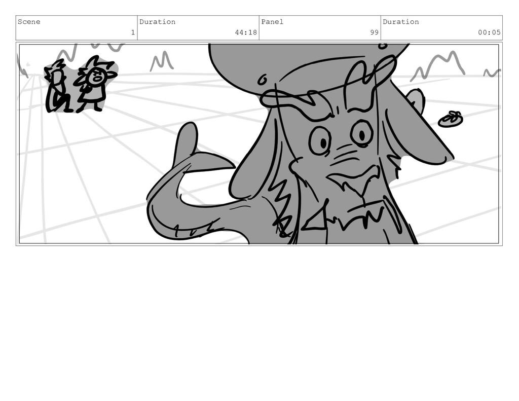 Scene 1 Duration 44:18 Panel 99 Duration 00:05