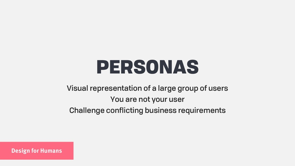 Design for Humans PERSONAS Visual representatio...