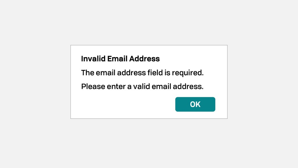 Invalid Email Address The email address field i...