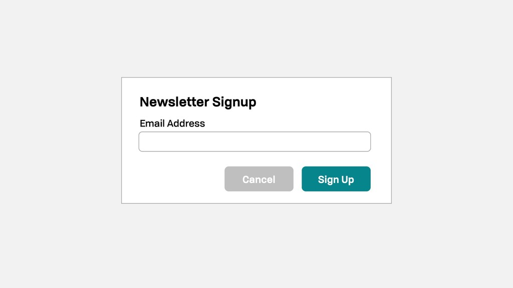 Newsletter Signup Email Address Sign Up Cancel