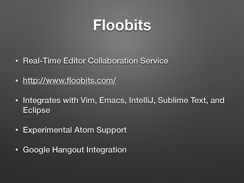 Floobits • Real-Time Editor Collaboration Servi...