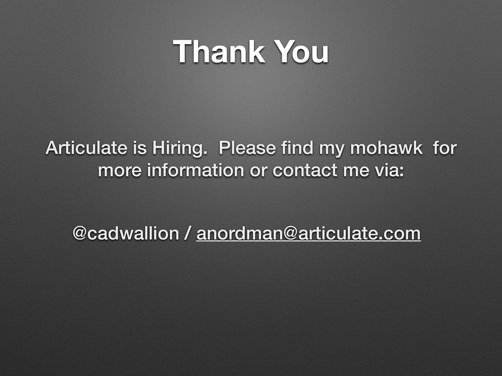 Thank You Articulate is Hiring. Please find my m...