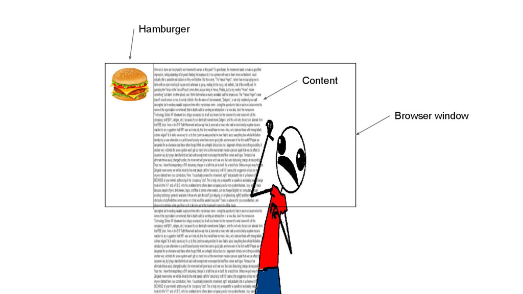 Browser window Content Hamburger