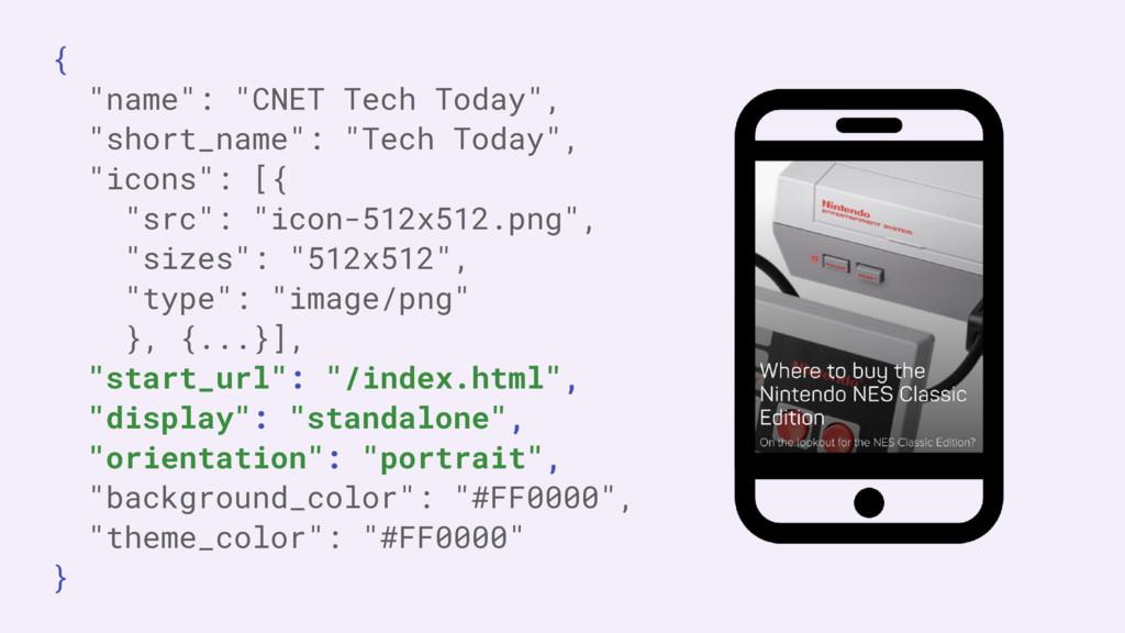 """{ """"name"""": """"CNET Tech Today"""", """"short_name"""": """"Tec..."""