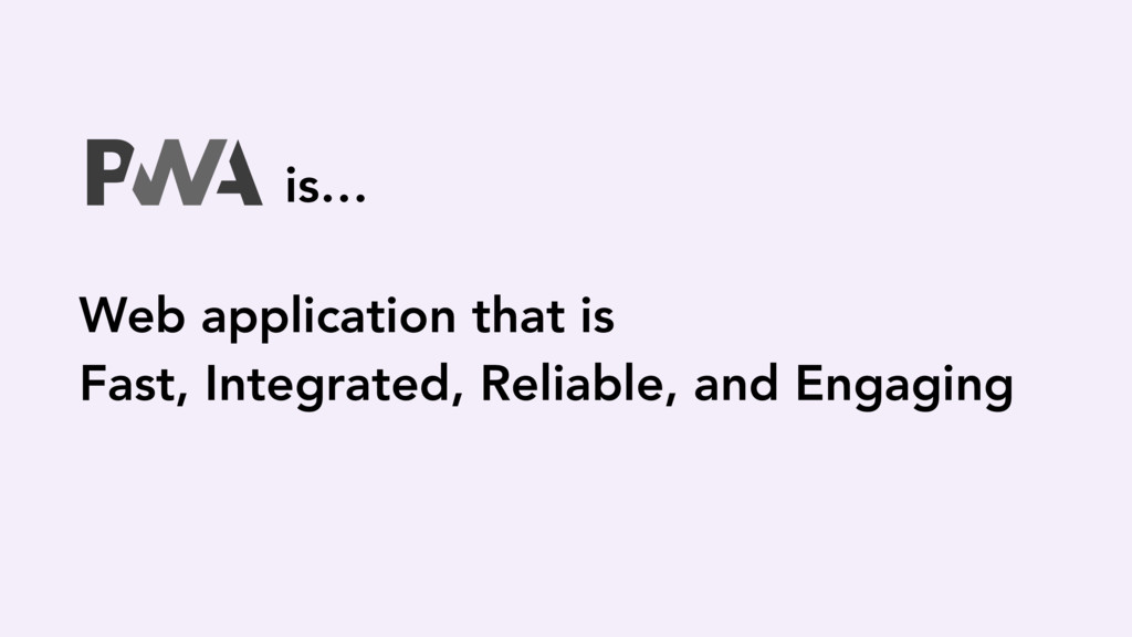 Web application that is Fast, Integrated, Relia...