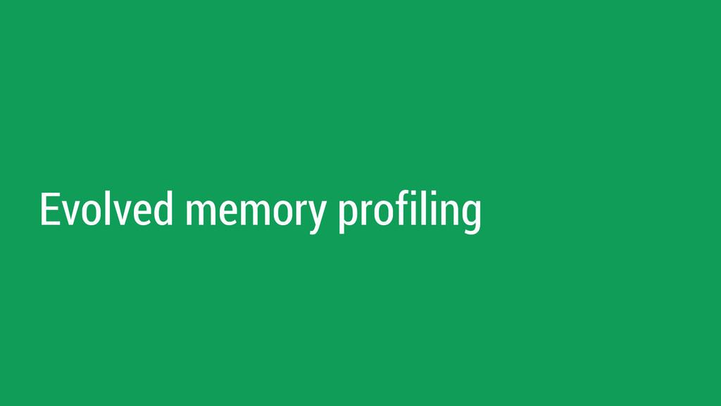 Evolved memory profiling