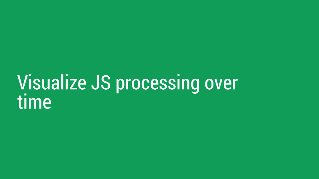 Visualize JS processing over time