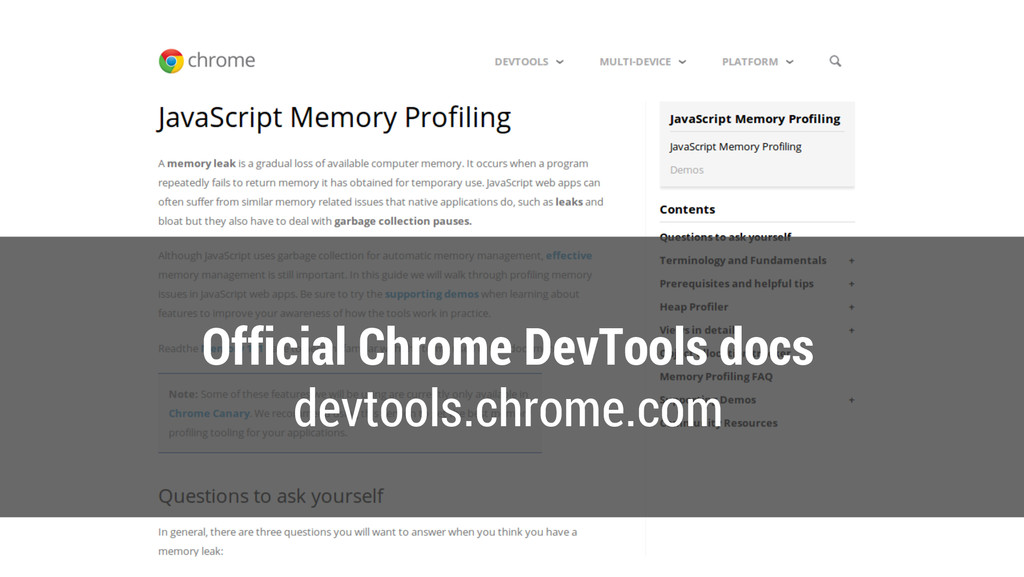 Official Chrome DevTools docs devtools.chrome.c...